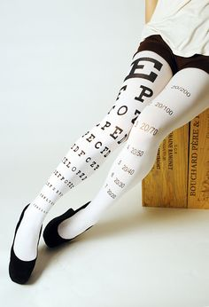 Eye Exam Chart Hand Silk Screen Printed Microfiber by NylonJournal, $27.00. These are awesome!