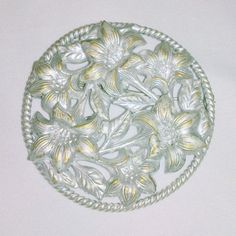 Vintage Silver Tone Lily Bouquet Flower Brooch by BorrowedTimes