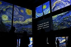 Van Gogh Alive - The Experience  exhibition. Dedicated to the famous Dutch painter  Roma, Italy