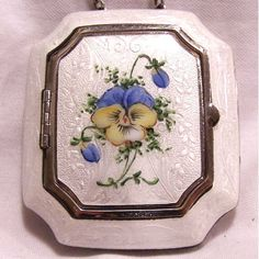 Lovely Guilloche Enamel Compact - For sale on Ruby Lane !! Isn't it just the thing for spring? Love vintage anything...