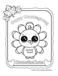coloring page thanksgiving turkey - Cute Colouring Pages