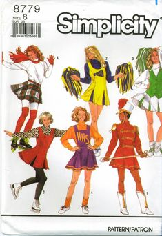 8786 Simplicity sewing pattern Cheerleader /& Majorette Outfit Girl Sz  10 or 12