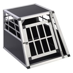 New Solid Aluminum Dog Transport Box Dog Crate Kennel Pet Playpen Cage w/Lock 28''H ** Startling review available here  : Dog cages