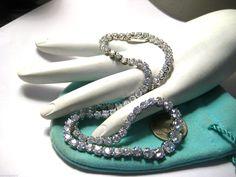 "Elegant Sterling Silver Necklace Choker Cubic Zirconia CZ 15"" 23 9 Grams | eBay"