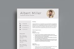 Resume Template With Photo Cv Design, Resume Design, Application Design, Cover Letter Template, Professional Resume, Resume Templates, Lettering, Search, Words