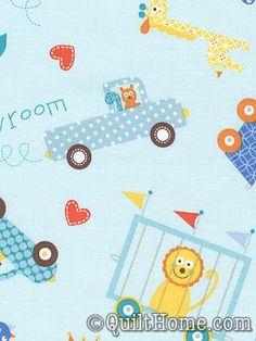 Happi PWDF153-Blue Fabric by Dena Designs [QH-FC-FS-PWDF153-Blue]