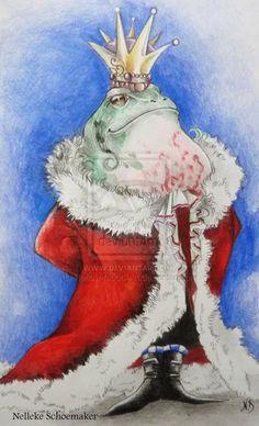 Frog king illustration by Hollow-Moon-Art.deviantart.com