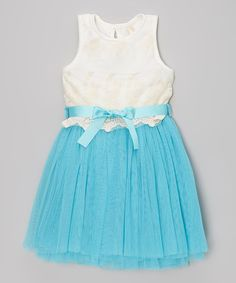 c655eb28f224ec This Blue   White Party Dress - Toddler   Girls by Sweet Cheeks is perfect!  Peuter Meisje JurkenPeuteKinderen ...