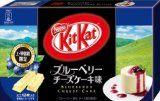 Japanese Kit Kat - Blueberry Cheese Cake Chocolate Box 5.2oz (12 Mini Bar) #blueberrycheesecakekitkat #kitkat