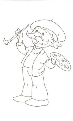 Colouring Pics, Cartoon Coloring Pages, Coloring Books, Free Coloring Pages, Pencil Art Drawings, Art Sketches, Drawing For Kids, Art For Kids, Kindergarten Jobs