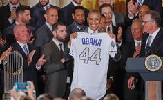 SERIOUSLY?   -     President Barack Obama, center, holds up a personalized Kansas City Royals baseball jersey - Pablo Martinez Monsivais/AP Photo  -     Seriously???