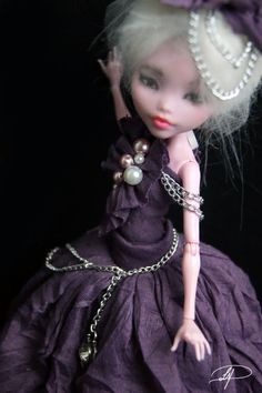 Couture gown for monster high dolls by laurenpayton on Etsy