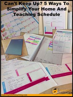 Here you'll find daily and weekly planners to help you get organised as well as different ideas to manage your various roles. http://topnotchteaching.com/classroom-management-organisation/simplify-your-home-and-teaching-schedule/