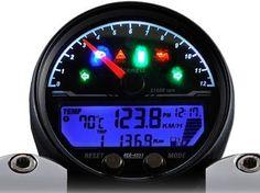 Acewell 4553 Black Speedo  http://www.moto-madness.com/Cafe-Racer-Acewell-2853-4553-Speedo-Gauges-Tach-Digital-Analog.html