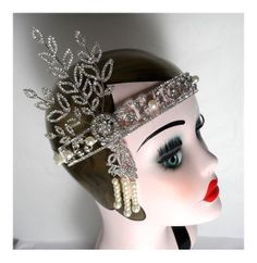 Just got this vintage style Flapper Great Gatsby 1920s pearl silver ladies headband on Etsy! So lovely!