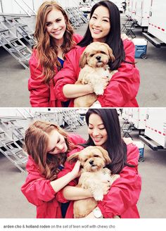 Holland Roden and Arden Cho
