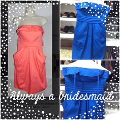 JESSICA SIMPSON DRESS Dress can be worn strapless or with straps. It has detachable straps. The color is a royal blue and was worn only once as a bridesmaid dress. Non-smoking home. Jessica Simpson Dresses