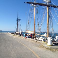 The tall ships in Cobourg Harbour on Lake Ontario