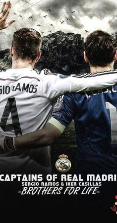 Sergio Ramos and Iker Casillas Wallpaper Sports Wallpapers, Baseball Cards, Movies, Movie Posters, Life, Madrid, Iker Casillas, Sergio Ramos, Films