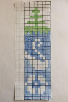 Mönster till pulsvärmaren. Upprepa 4 ggr efter varandra på bredden. Stitch 2, Cross Stitch, Knitting Charts, Knitting Ideas, Fair Isle Pattern, Wrist Warmers, Finland, Knit Crochet, Diagram