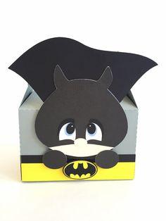 Batman favor boxes - Set of 12   Superhero box   Batman theme birthday party   Batman treat - gift boxes.