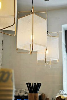 brass linen lamps
