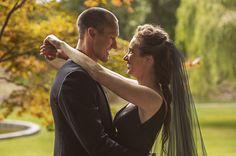 The bride wore a black wedding dress at Ashford Castle lawn ceremony Ashford Castle, Irish Wedding, Black Wedding Dresses, Lawn, Bride, Couple Photos, Couples, Photography, Wedding Bride