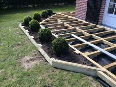 Terrasse en bois surélevée : étape 2
