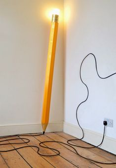 Giant Pencil Floor Lamp by London design studio Michael & George