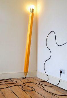 Giant Pencil Floor Lamp by London design studio Michael & George