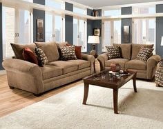 Corinthian Resort Harvest Sofa And Loveseat My Furniture Place Living Room