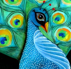 """Close 2 my Art ~ Michelle Allen   """"Genius and virtue are to be more often found clothed in gray than in peacock bright. -Van Wyck Brook    Remember that the most beautiful things in the world are the most useless; peacocks and lilies, for example. -John Ruskin"""""""
