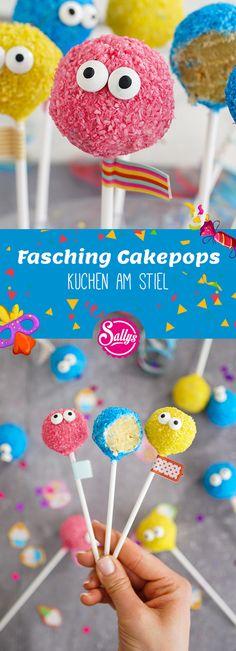 Passend zu Fasching gibt es diese Cakepops moit Zuckeraugen. Sehen nicht nur toll aus sondern schmecken auch mega lecker!