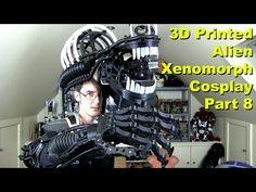 XRobots - 3D Printed Alien Xenomorph Cosplay Part 8, Shoulder Brace & Head - YouTube