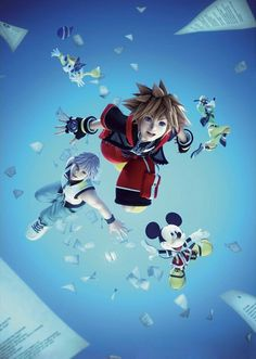 sora, riku, donald, mickey, and goofy