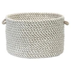 Perfect for storing outdoor accessories in the foyer or magazines in the living room, this braided utility basket features 2 easy-grip handles.