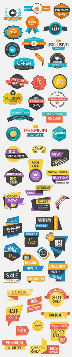 Collection of Sale Discount Badges by Creative Graphics on @creativemarket