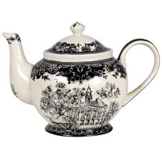 Stash Tea Black Toile Teapot