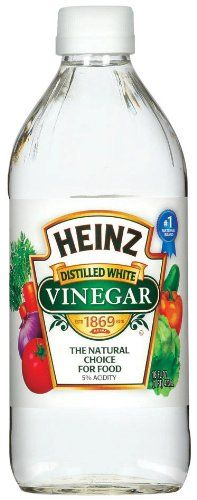 White vinegar works like a natural painkiller and helps reduce any swelling from a sunburn. Just apply to a cotton ball and rub over the burn. Diy Cleaning Products, Cleaning Hacks, Cleaning Solutions, Cleaning Supplies, Heinz Vinegar, Homemade Dishwasher Detergent, Vinegar For Hair, Distilled White Vinegar, Organic Soap
