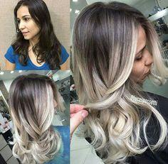 Brunette Hair Color With Highlights, Balayage Hair Blonde, Ombre Hair, Balayage Hair Tutorial, Pretty Hair Color, Business Hairstyles, Gorgeous Hair, Dark Hair, Hair Hacks