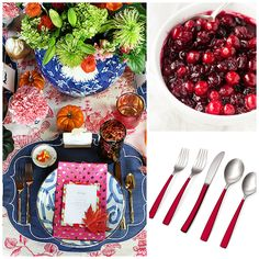 Argentum Red Enamel 16 Piece Flatware Set perfect for the holidays! At 50% off - Usually $60...now $30!