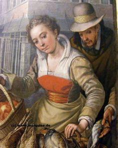 La Couturière Parisienne - Markt in der Stadt (Detail), 1566