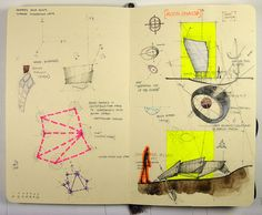 sketchbook art color sketch yellow pink pen paper drawing architecture creative
