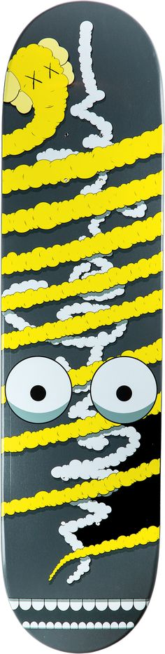Yellow by Kaws 2005 Hand Numbered Signed in the Deck Edition of 500
