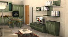 Cucina e living in stile classico by #Scavolini #kitchen #kitchens @Sermobil #design