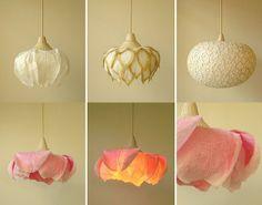 Washi paper lamps by Sachie Muramatsu