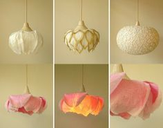 Washi paper lamps by Sachie Muramatsu