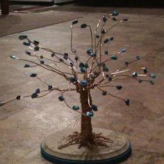 Wire and bead tree:)