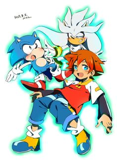 Silver, Classic Sonic and Chris