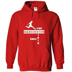 Love Manchester since 1979 T-Shirts, Hoodies. CHECK PRICE ==► https://www.sunfrog.com/Sports/Love-Manchester-since-1979-Red-Hoodie.html?41382